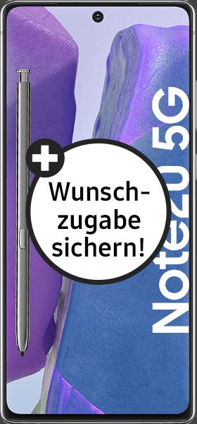 PremiumSIM LTE XL + Samsung Galaxy Note20 5G 256GB Mystic Gray – 54,99 EUR monatlich