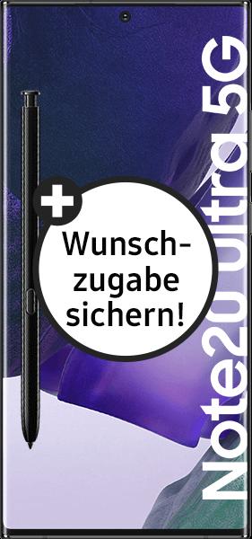 PremiumSIM LTE XL + Samsung Galaxy Note20 Ultra 5G 256GB Mystic Black – 64,99 EUR monatlich