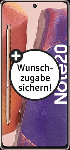 PremiumSIM LTE XL + Samsung Galaxy Note20 4G 256GB Mystic Bronze – 50,99 EUR monatlich