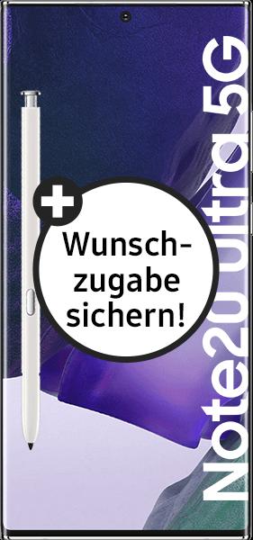 PremiumSIM LTE XL + Samsung Galaxy Note20 Ultra 5G 256GB Mystic White – 64,99 EUR monatlich