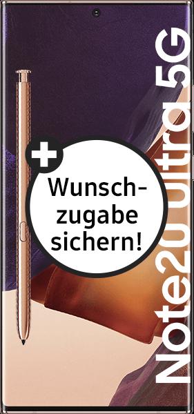 PremiumSIM LTE XL + Samsung Galaxy Note20 Ultra 5G 256GB Mystic Bronze – 64,99 EUR monatlich