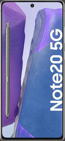 PremiumSIM LTE XL + Samsung Galaxy Note20 5G 256GB Mystic Gray – 49,99 EUR monatlich