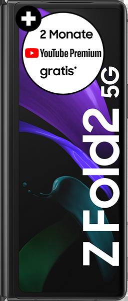 PremiumSIM LTE XL + Samsung Galaxy Z Fold2 5G 256GB Mystic Black – 72,99 EUR monatlich